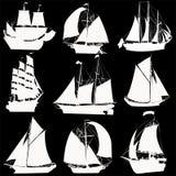 收集船 库存图片