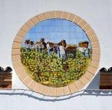 收集葡萄, Sanlucar de Barrameda,西班牙的葡萄捡取器 免版税图库摄影