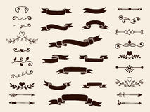 收集装饰设计要素 也corel凹道例证向量 向量例证