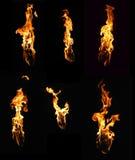 收集要素火喜欢火炬 库存照片