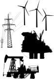 收集要素能源生成 免版税库存照片