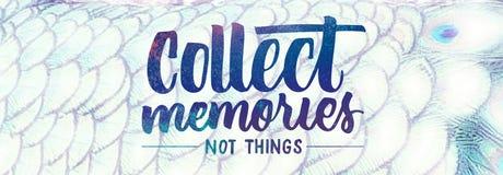 收集记忆 库存图片