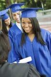 收集证明的毕业生从教务长 免版税库存图片