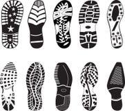 收集详细资料高鞋子跟踪 皇族释放例证