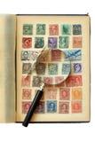 收集邮票 免版税库存图片