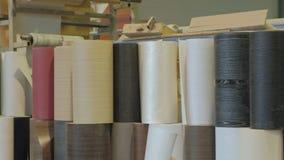 收集门的过程从木空白,木门的生产 影视素材