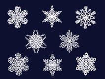 收集雪花向量 免版税图库摄影