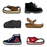 收集鞋子 免版税库存照片
