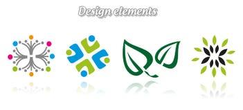 收集颜色不同的文件五图标包括级别向量 库存照片
