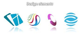 收集颜色不同的文件五图标包括级别向量 图库摄影