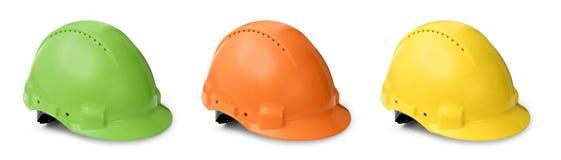 收集颜色安全帽 免版税图库摄影
