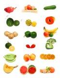 收集食物健康白色 免版税图库摄影