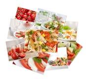 收集食物照片 库存照片