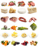 收集食物种类 免版税库存照片