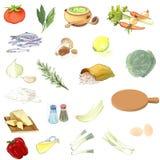收集食物 免版税图库摄影