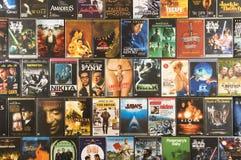 收集dvd电影射击工作室 免版税库存照片