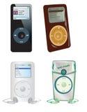 收集MP3播放器 免版税库存图片