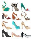 收集s穿上鞋子妇女 免版税图库摄影
