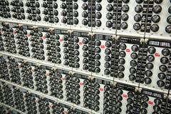 收音机调整的瘤几个面板  免版税库存图片