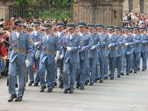 更改卫兵,布拉格,捷克共和国 库存图片