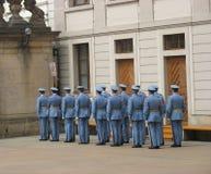 更改卫兵,布拉格,捷克共和国 免版税库存照片