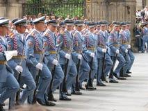 更改卫兵,布拉格,捷克共和国 图库摄影