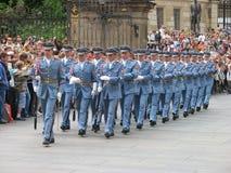 更改卫兵,布拉格,捷克共和国 免版税库存图片