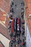 改变乘`世界领巾天`的机会卫兵名誉领巾军团,萨格勒布 免版税库存照片