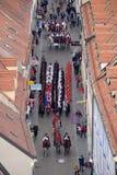 改变乘`世界领巾天`的机会卫兵名誉领巾军团,萨格勒布 库存图片