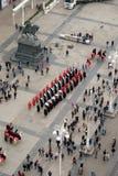 改变乘`世界领巾天`的机会卫兵名誉领巾军团,萨格勒布 免版税库存图片
