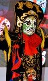 改变作为传统阶段戏曲的中国面孔 库存图片