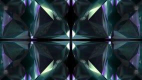 改变几何水晶玻璃或镜子形状行动图表背景的抽象颜色的无缝的动画 库存例证