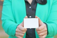 改变出现的卡片 免版税库存照片
