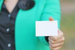 改变出现的卡片 库存图片