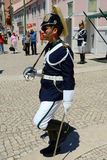 改变卫兵在里斯本,葡萄牙 免版税库存照片
