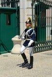 改变卫兵在里斯本,葡萄牙 图库摄影