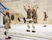 改变卫兵在雅典希腊 库存图片