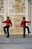 改变卫兵仪式Dolmabahce,伊斯坦布尔土耳其 库存图片