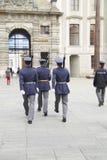 改变在布拉格城堡的卫兵,布拉格欧洲 免版税图库摄影