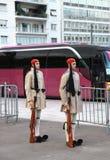 改变在希腊议会的卫兵,结构体正方形 库存照片