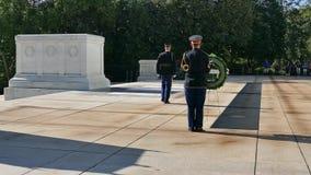改变在无名英雄墓的卫兵 影视素材