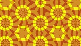 改变形式,圈的红色黄色背景 库存例证