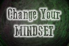改变您的心态概念 免版税库存图片