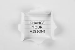 改变您的视觉! 免版税图库摄影