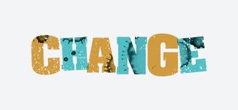 改变概念被盖印的词艺术例证 库存照片