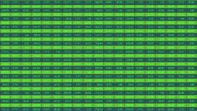 改变的图计算机图表在股市上 交易结果 影视素材