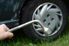 改变的轮胎 免版税库存图片