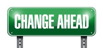 改变路标前面例证设计 免版税库存图片