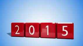 改变从2014年到2015年的红色块 库存例证