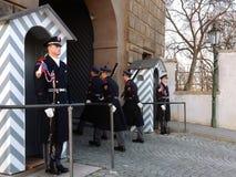 改变仪仗队在总统府守卫 库存图片